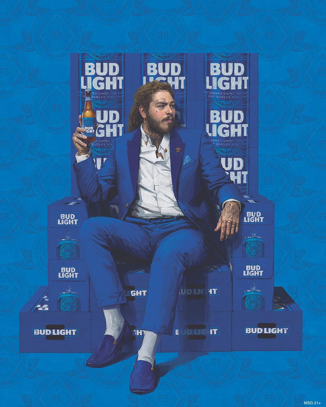 Post Malone's Bud Light ad