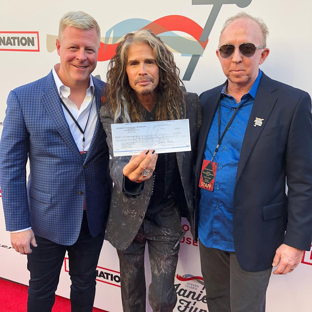 Steven Tyler at a gala for Janie's Fund