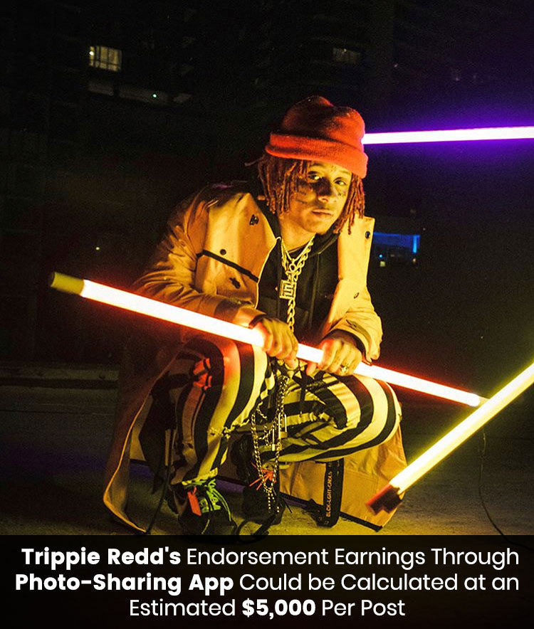 Trippie Redd's endorsement earnings