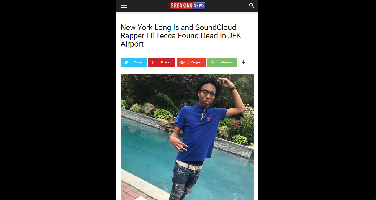 [FACT CHECK] Rapper Lil Tecca Was NOT Shot Dead, Here's What Happened