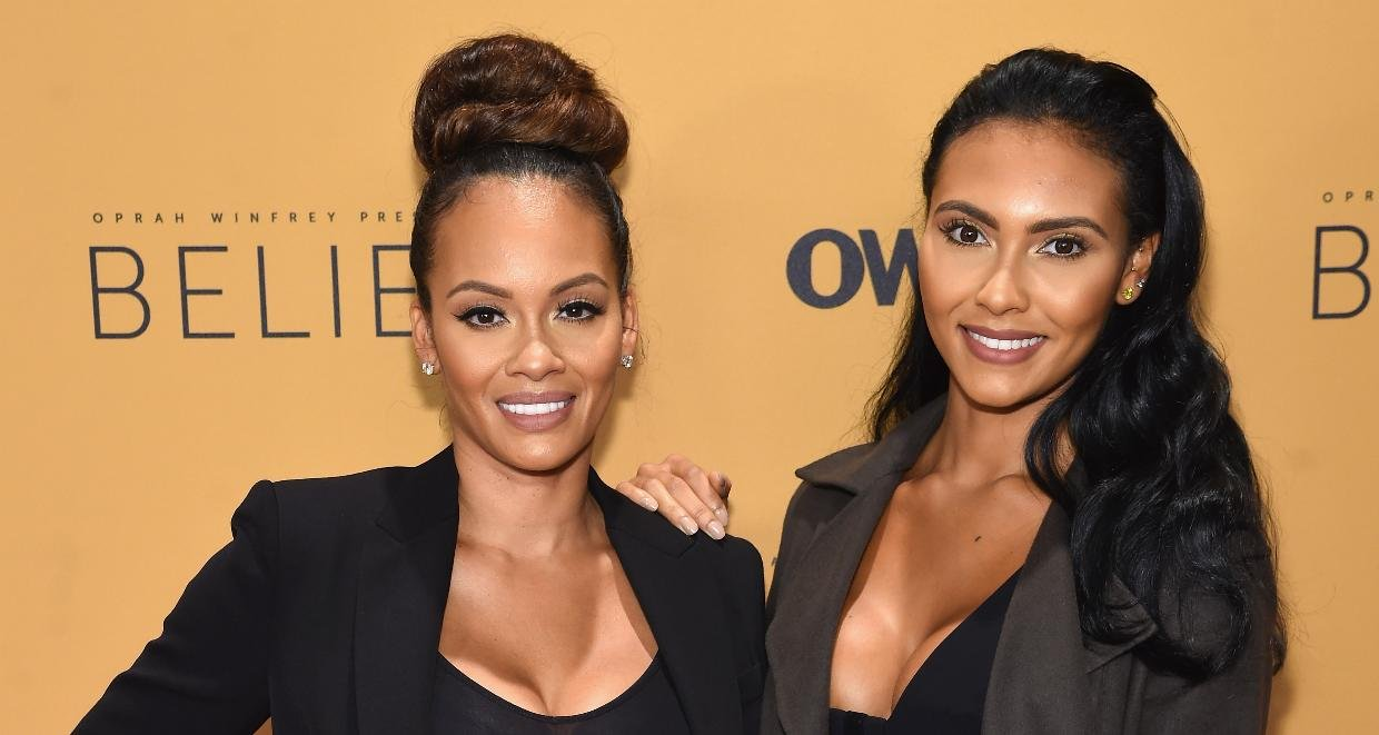 TV Personality Evelyn Lozada(Left) and Shaniece Hairston(Right) attend the 'Belief' New York premiere at TheTimesCenter