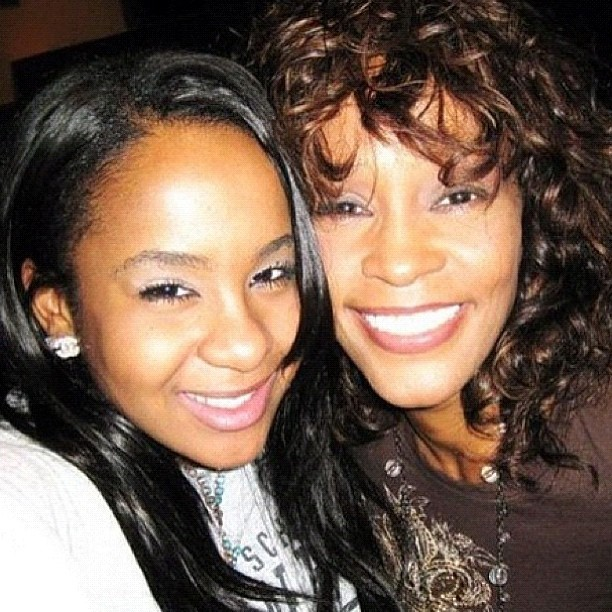 Whitney Houston(Right) and Her Daughter, Bobbi Kristina Brown(Left)