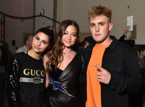 Jake paul with Erika Costell