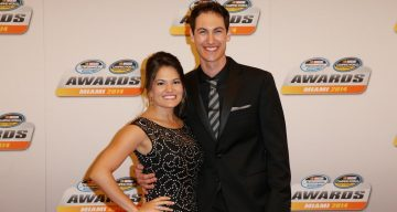 Joey Logano with his wife Brittany Bacca