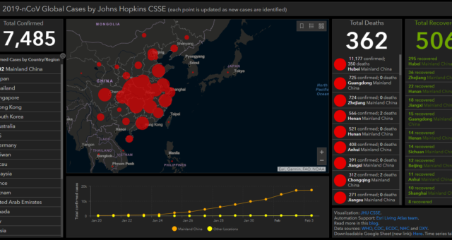 [Real Time] Live Map Tracks Coronavirus Outbreak Around the World