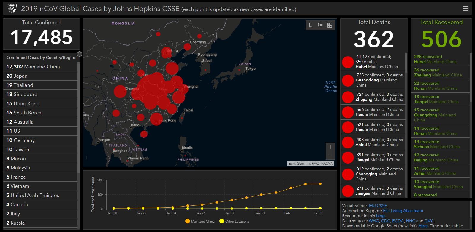 real time  live map tracks coronavirus outbreak around