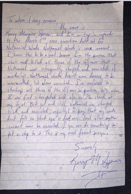 Kerry Spencer Letter