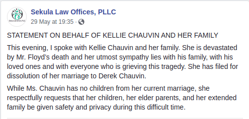 Kellie Chauvin Divorce From Officer Derek Chauvin