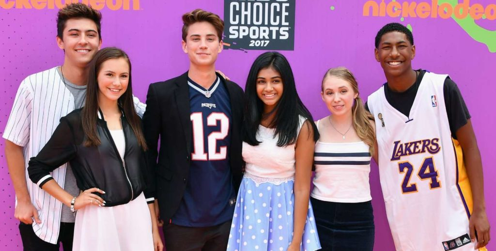 Kyson Facer, Alex Hook, Carson Rowland, Mohana Krishnan, Nicole Alyse Nelson, and Armani Barrett from Nickelodeon's I Am Frankie