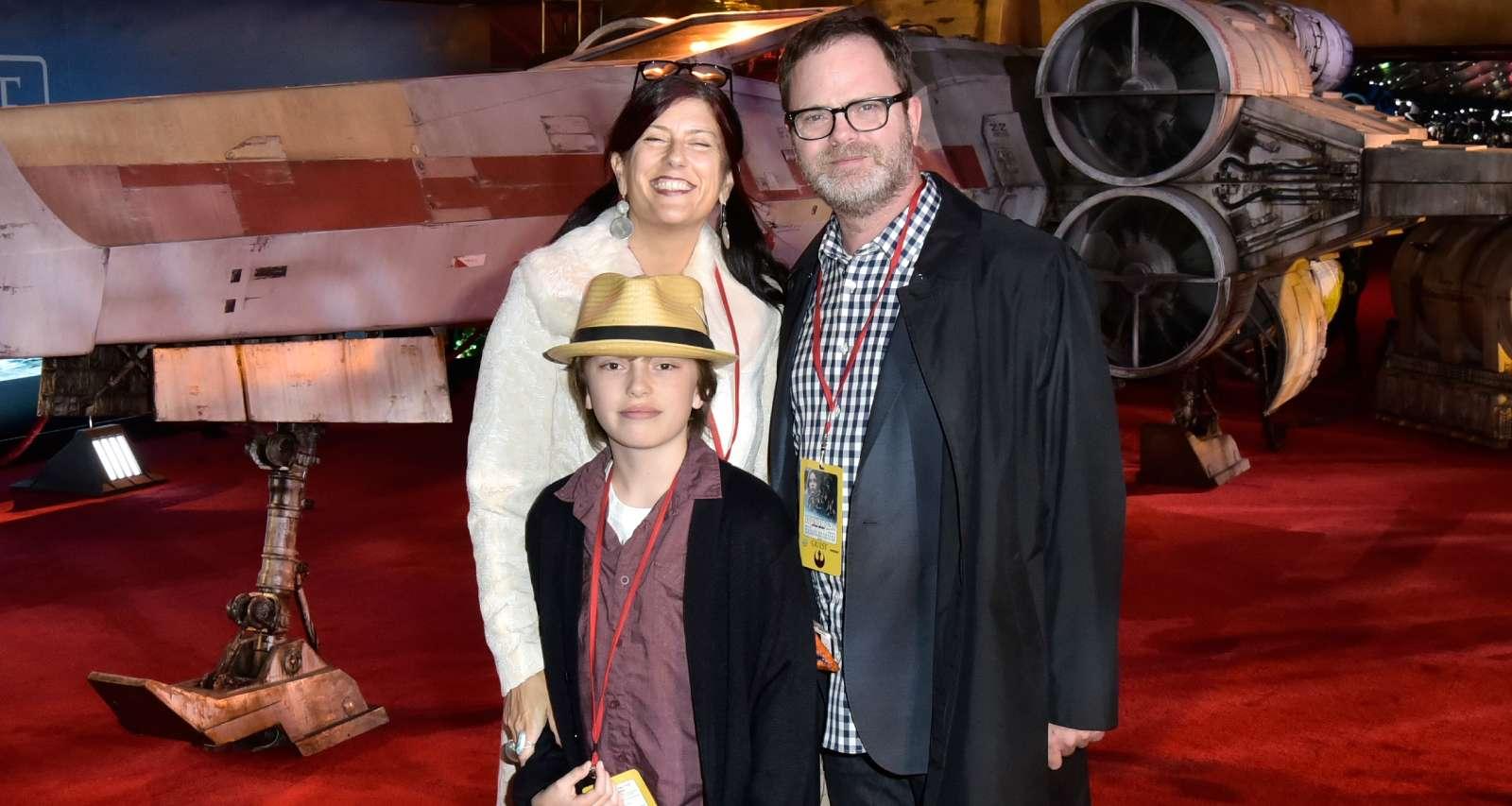 Writer Holiday Reinhorn, actor Rainn Wilson and their son Walter McKenzie Wilson