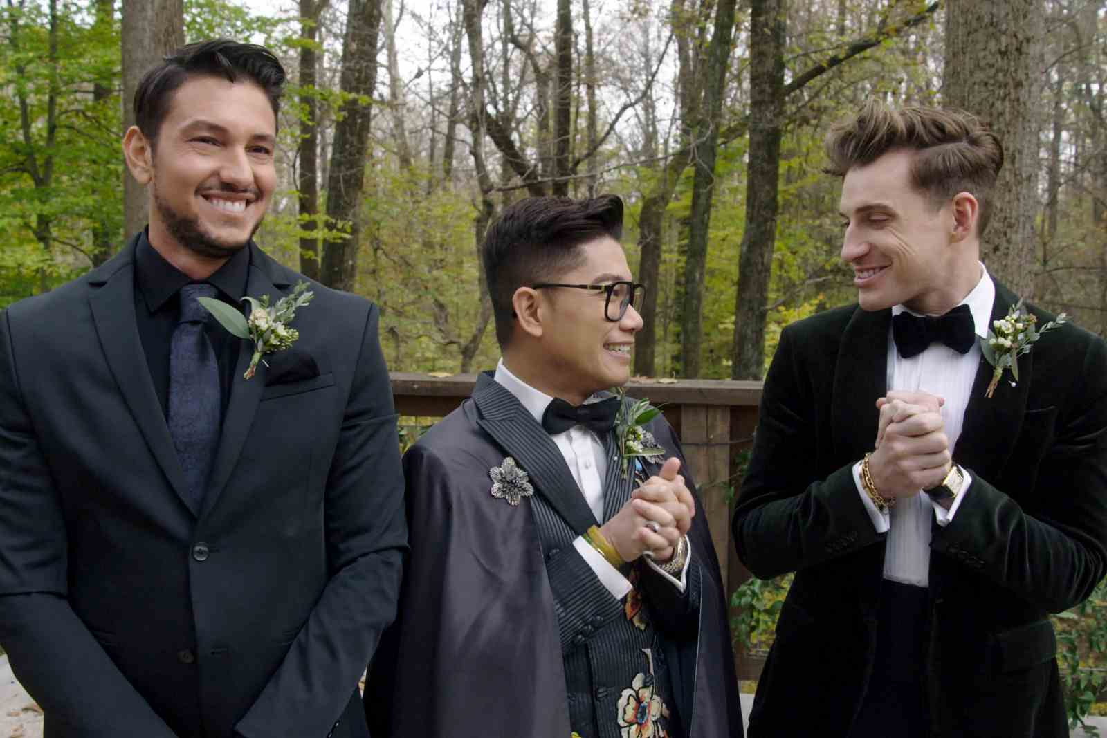 Chef Gabriele Bertaccini, fashion designer Thai Nguyen and interior designer Jeremiah Brent