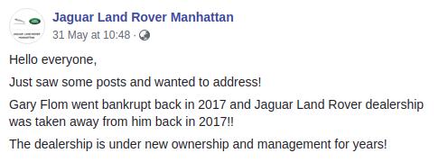 Gary Flom Jaguar Landrover