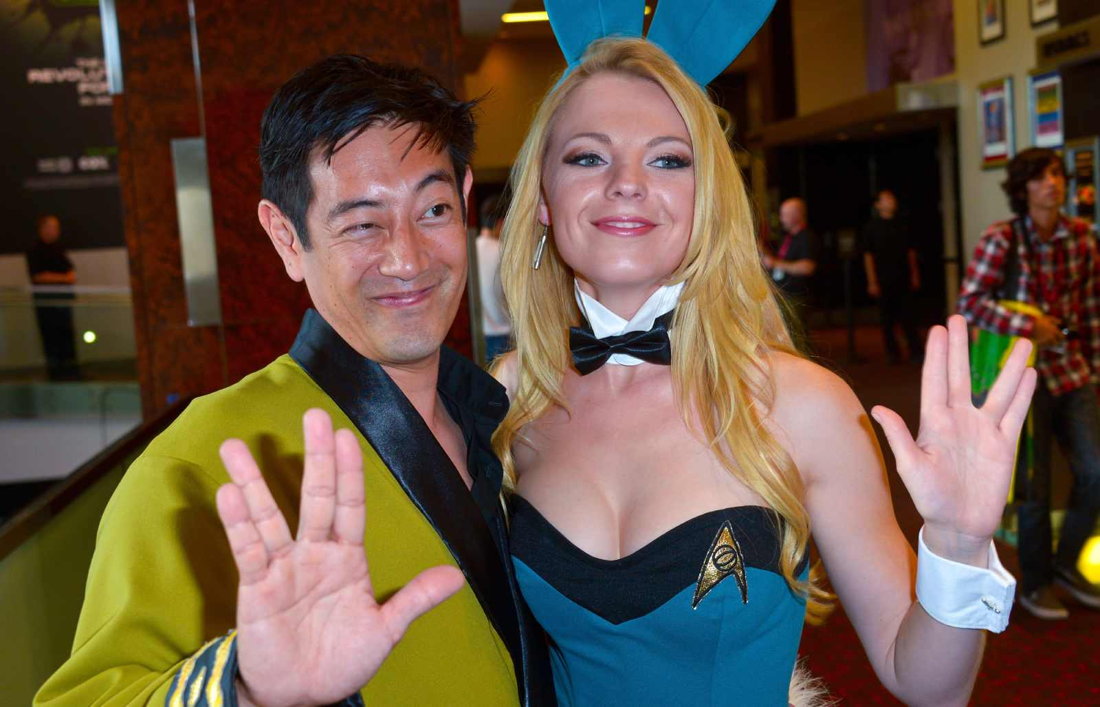 Grant Imahara and Jennifer Newman