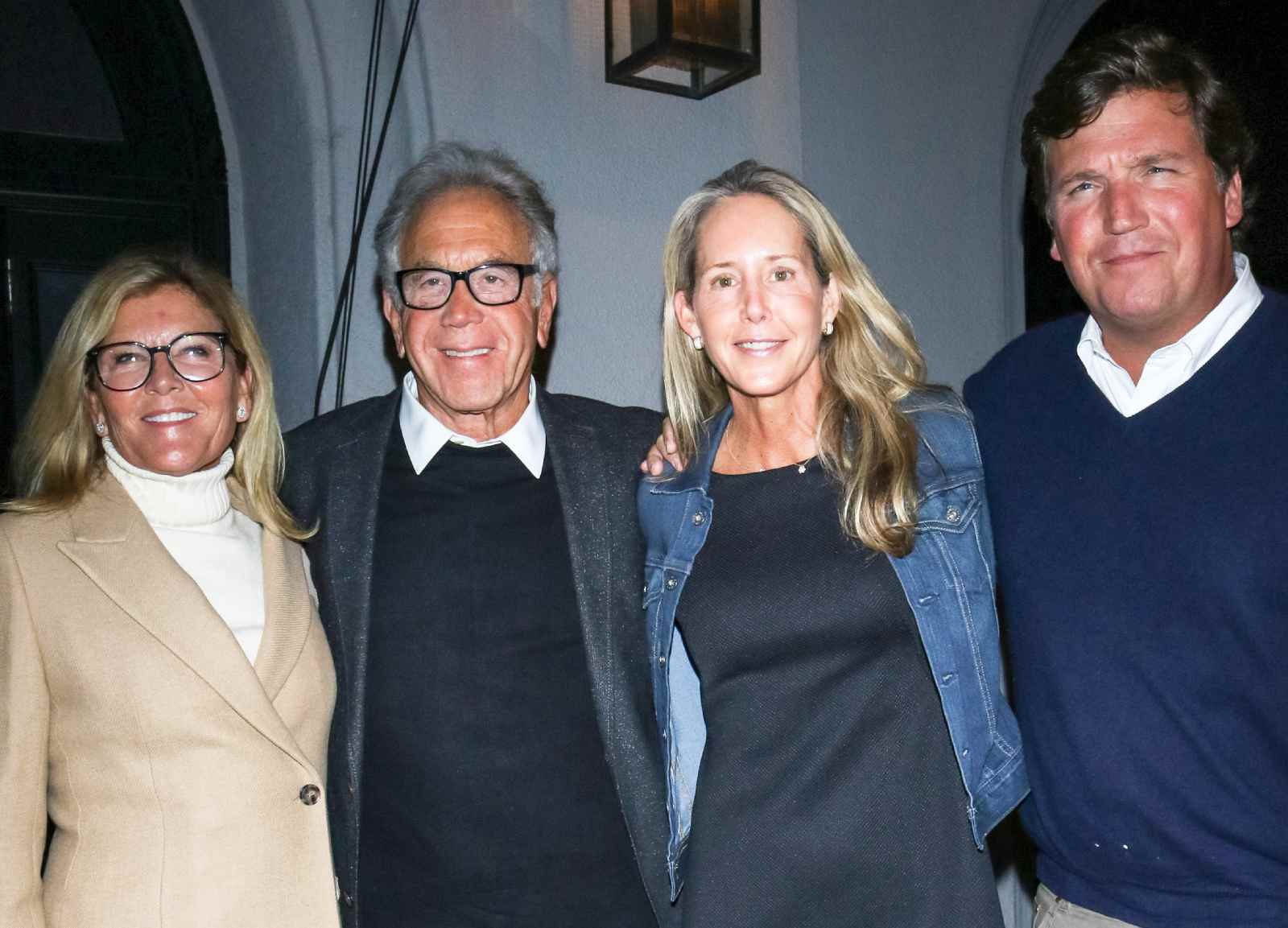 James and Eleanor Randall with Tucker Carlson, Susan Andrews