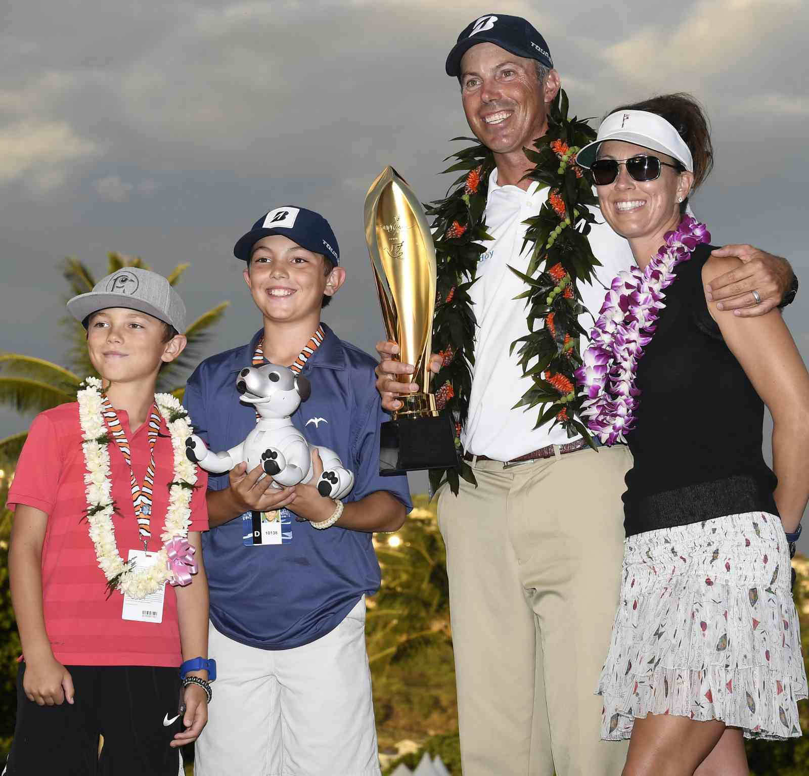 Matt Kuchar wife Sybi and sons Cameron and Carson