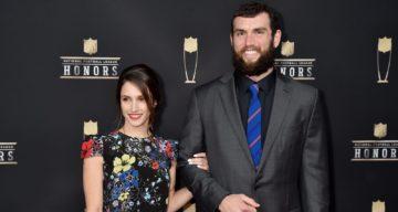 Nicole Pechanec and Andrew Luck