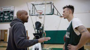 Deshaun Highler with coach