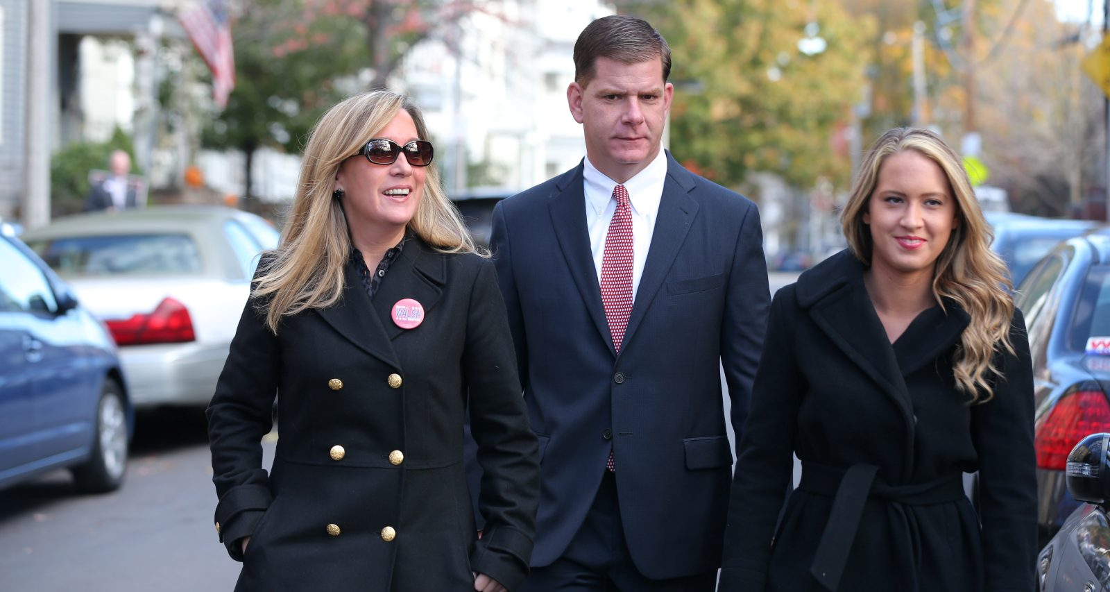 Lorrie Higgins, Marty Walsh and Lauren Campbell