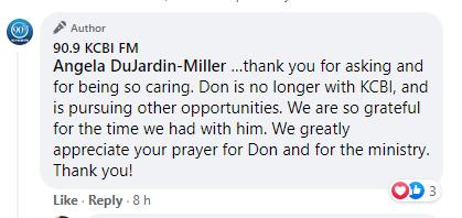 Don Burns Leaving